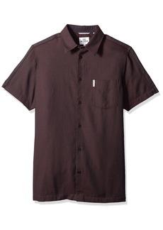 Ben Sherman Men's Short Sleeve Blocked Dobby Shirt