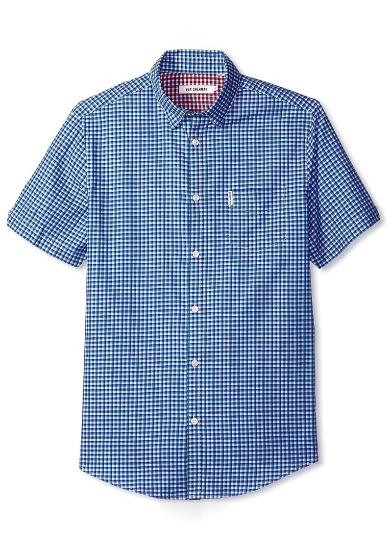 Ben Sherman Men's Short Sleeve Effect Check Shirt  S