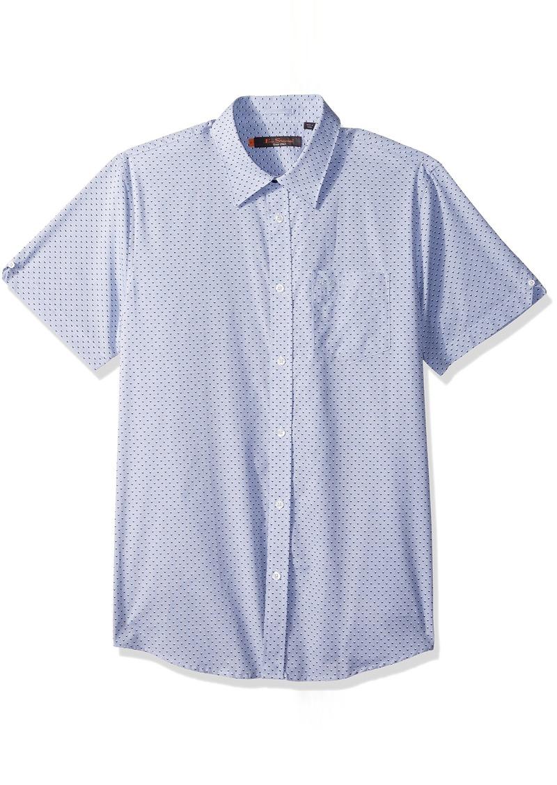 Ben Sherman Men's Short Sleeve END Print Shirt