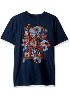 Ben Sherman Men's Short Sleeve Floral Panel Graphic TEE  XXLarge