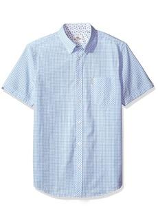 Ben Sherman Men's Short Sleeve Gingham Dobby Shirt