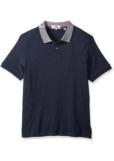 Ben Sherman Men's Short Sleeve Intrsia Collar Polo  XXL