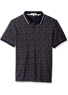 Ben Sherman Men's Short Sleeve Micro Floral Print Polo  XXL