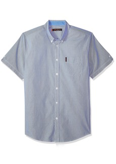 Ben Sherman Men's Short Sleeve Micro PIN Stripe Shirt