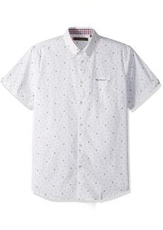 Ben Sherman Men's Short Sleeve Park Conversation Print Shirt
