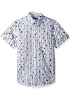 Ben Sherman Men's Short Sleeve Park Life Print Shirt  XXLarge