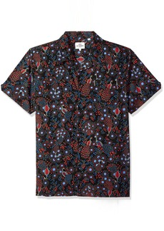 Ben Sherman Men's Short Sleeve Peacock Print Shirt