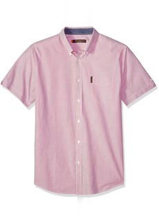 Ben Sherman Men's Short Sleeve Pencil Stripe Shirt  Extra Large