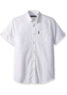 Ben Sherman Men's Short Sleeve Plain NEP Shirt  XLarge