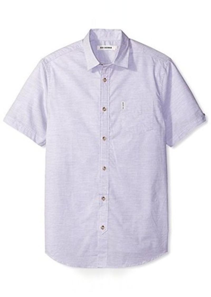 Ben Sherman Men's Short Sleeve Plain Summer Marl Shirt  XXL