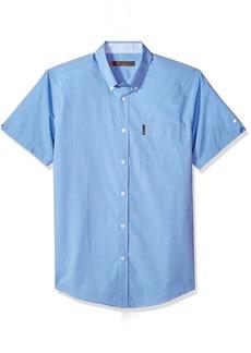 Ben Sherman Men's Short Sleeve Solid End Shirt
