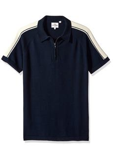 Ben Sherman Men's Short Sleeve Zip Polo