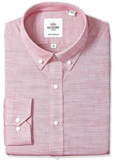 Ben Sherman Men's Skinny Fit Diamond Dobby Dress Shirt