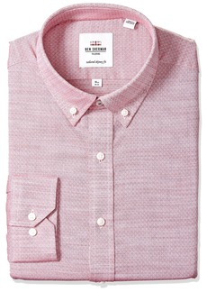 Ben Sherman Men's Skinny Fit Diamond Dobby Dress Shirt