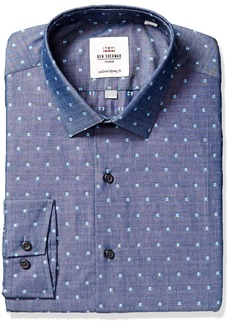 Ben Sherman Men's Skinny Fit Soho Chambray Dress Shirt