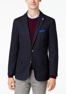 Ben Sherman Men's Slim-Fit Blue Denim Sport Coat with Detachable Black Bib
