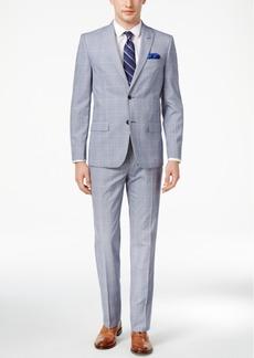 Ben Sherman Men's Slim-Fit Blue/White Plaid Suit