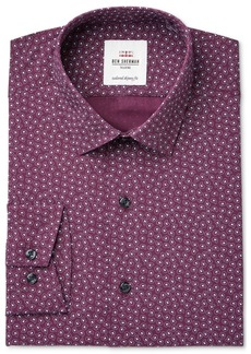 Ben Sherman Men's Slim-Fit Burgundy & Paisley Print Dress Shirt