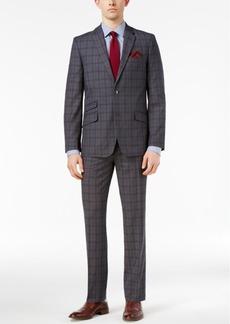 Ben Sherman Men's Slim-Fit Gray Plaid Suit