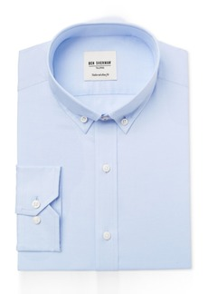 Ben Sherman Men's Slim-Fit Light Blue Solid Oxford Dress Shirt