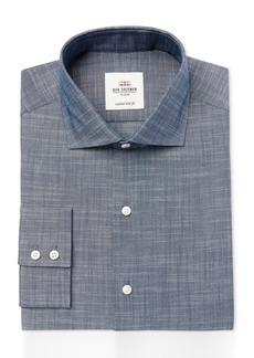 Ben Sherman Men's Slim-Fit Navy Slub Chambray Dress Shirt
