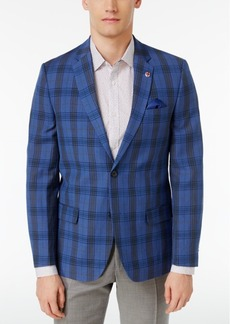 Ben Sherman Men's Slim-Fit Plaid Sport Coat