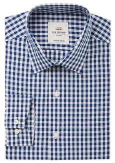 Ben Sherman Men's Slim-Fit Royal Dobby Check Dress Shirt