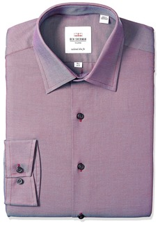 Ben Sherman Men's Slim Fit Royal Oxford Dress Shirt