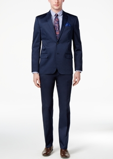Ben Sherman Men's Slim-Fit Stretch Comfort Navy Solid Suit