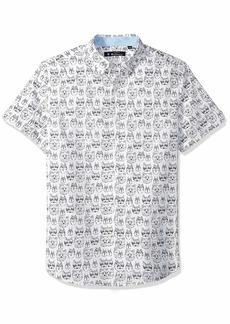 Ben Sherman Men's SS Animal FACE PRNT Shirt  XXL