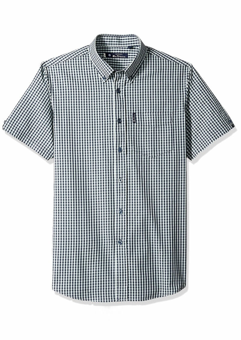 Ben Sherman Men's SS Classic Gingham Shirt  XL