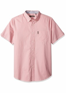 Ben Sherman Men's SS Ditsy FLORL PRNT Shirt  L
