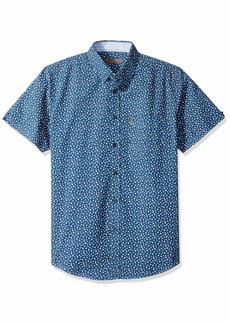Ben Sherman Men's SS Ditsy FLRL PRNT Shirt  L