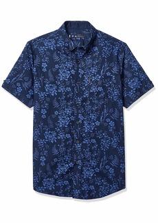 Ben Sherman Men's SS FLRL Blue Shirt  XXL