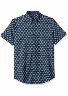 Ben Sherman Men's SS FLRL TARGT Print Shirt  L