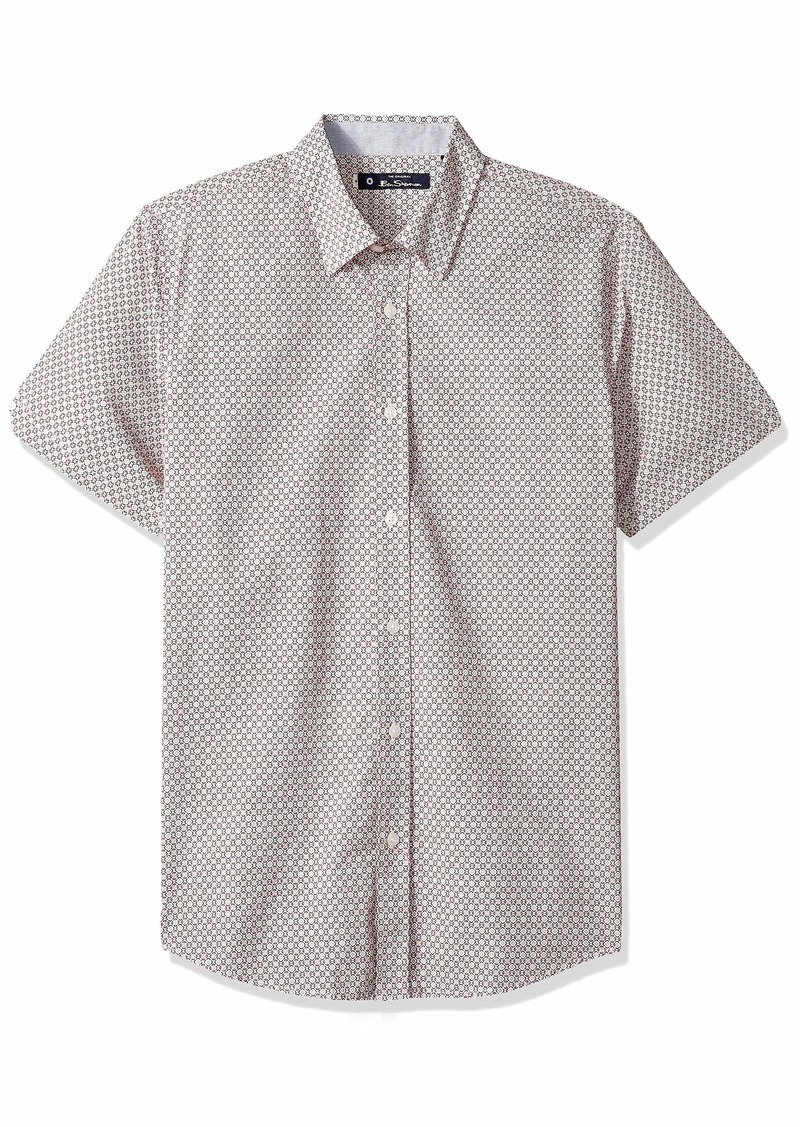 Ben Sherman Men's SS GEO Floral Print Shirt  L