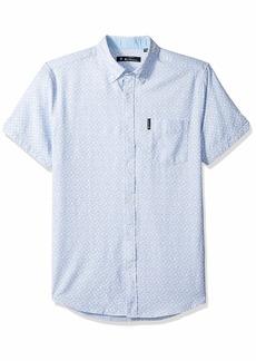 Ben Sherman Men's SS GEO Texture PRNT Shirt  S