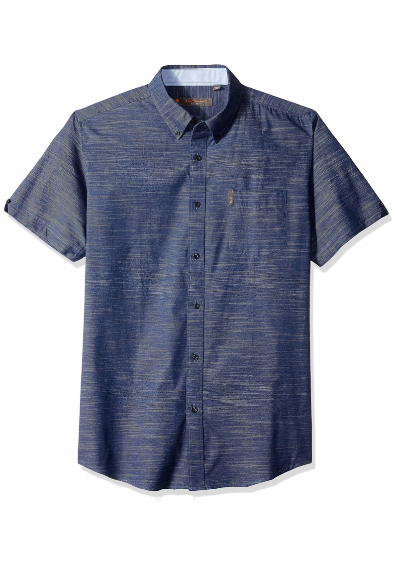 Ben Sherman Men's SS Horizontal SLUB Shirt  XL