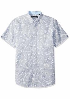 Ben Sherman Men's SS Linear FLRL PRNT Shirt  S