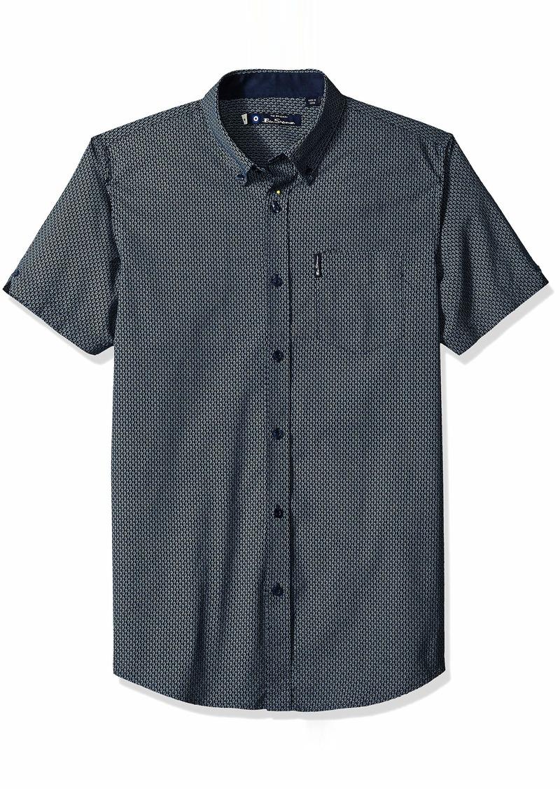 Ben Sherman Men's SS Micro Paisley Shirt  S