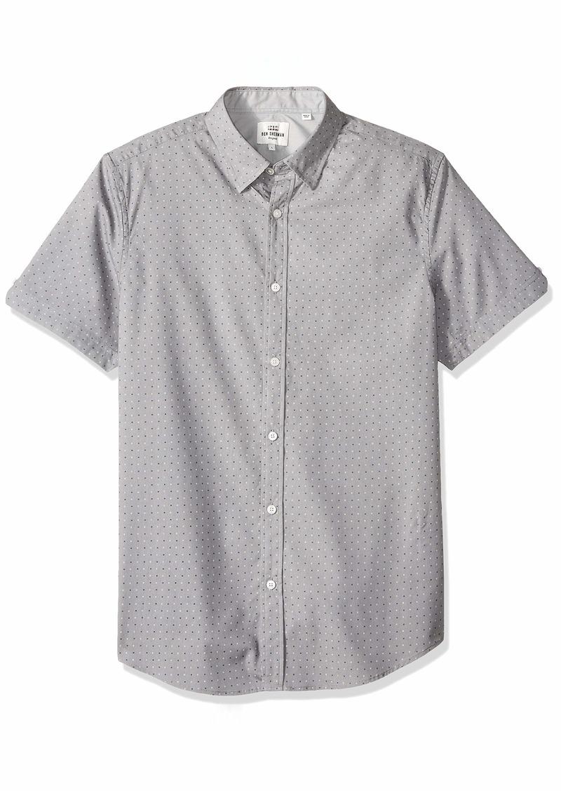 Ben Sherman Men's SS Mini GEO Print Shirt  XXL