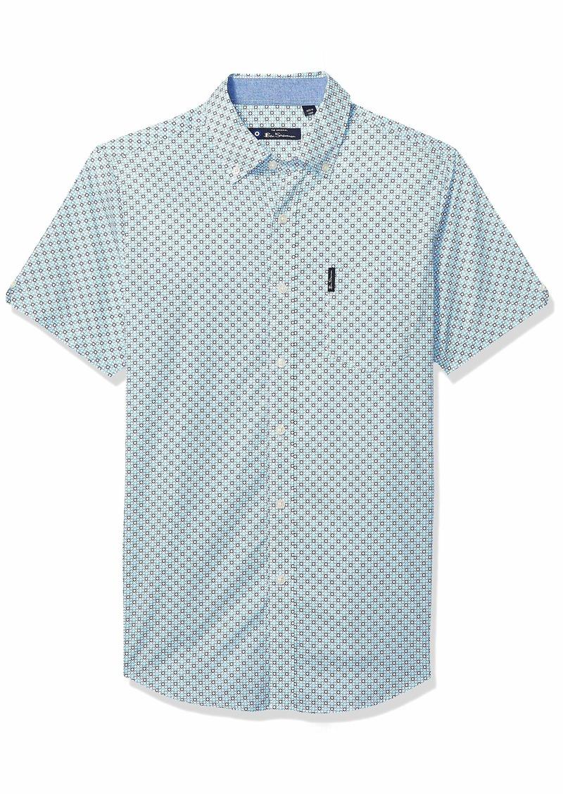 Ben Sherman Men's SS Multi CIRC PRT Shirt  L