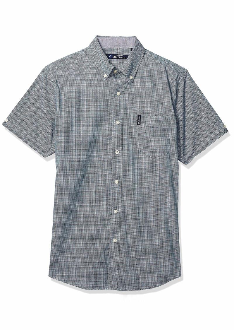 Ben Sherman Men's SS Multi CLR Plaid Shirt  L