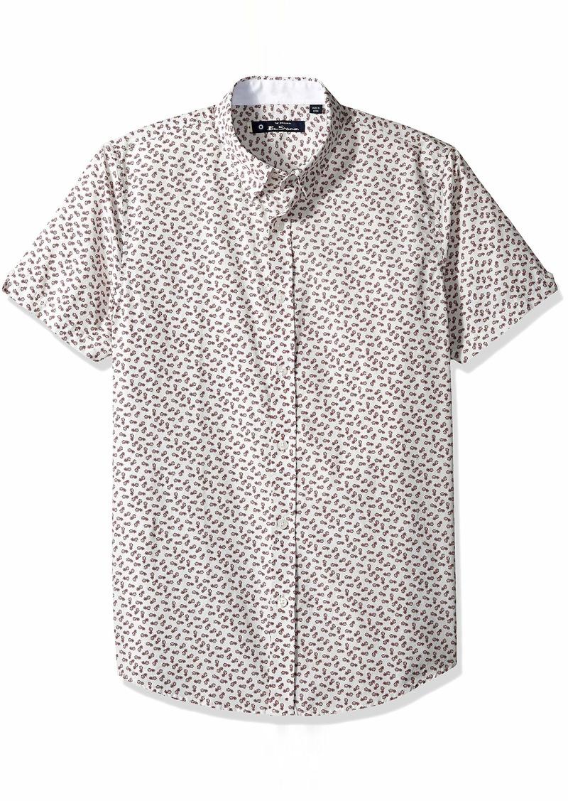 Ben Sherman Men's SS Pineapple Print Shirt  L