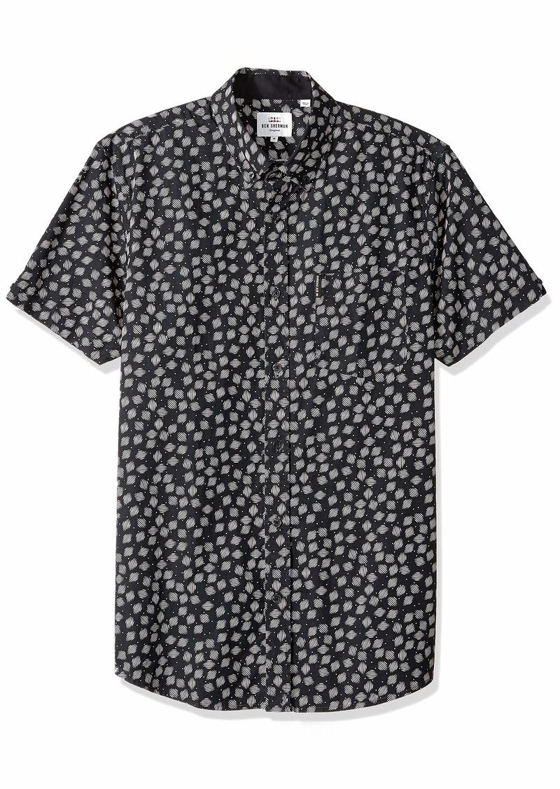 Ben Sherman Men's SS SCATTRD Scratch Shirt  S
