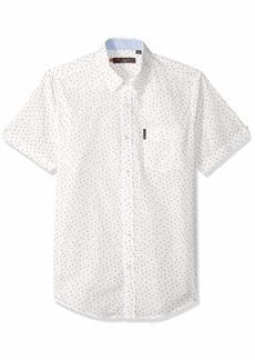 Ben Sherman Men's SS SCTTRD GEO PRNT Shirt  M