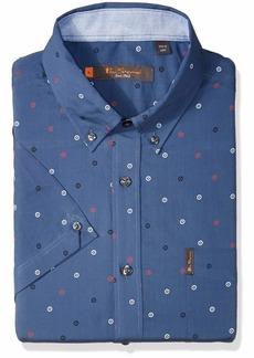 Ben Sherman Men's SS SCTTRD TRGT PRNT Shirt  S