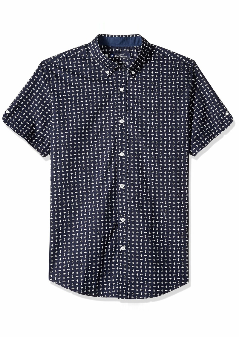 Ben Sherman Men's SS Seashell Print Shirt  S