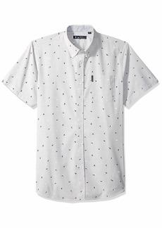 Ben Sherman Men's SS SLUB Bird PRNT Shirt  M