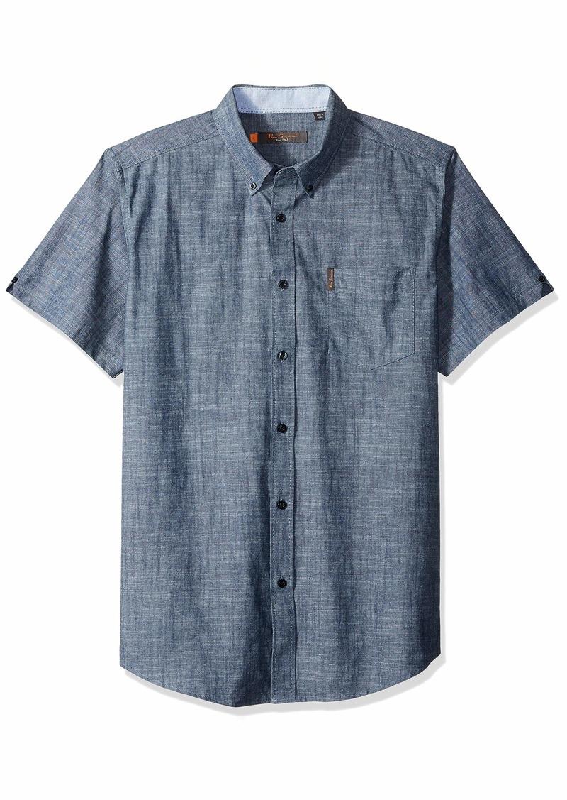 Ben Sherman Men's SS SLUB Chambray Shirt  L